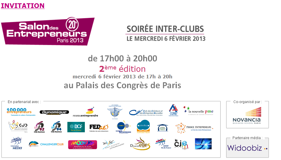 20e salon des entrepreneurs Paris 2013
